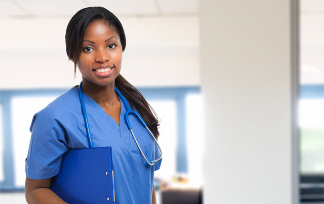 nurse holding a clipboard