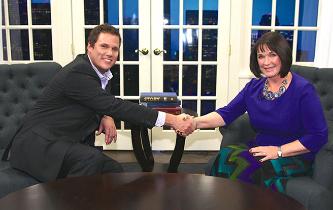 Phyllis Merrill with Bob Guiney on Success Today