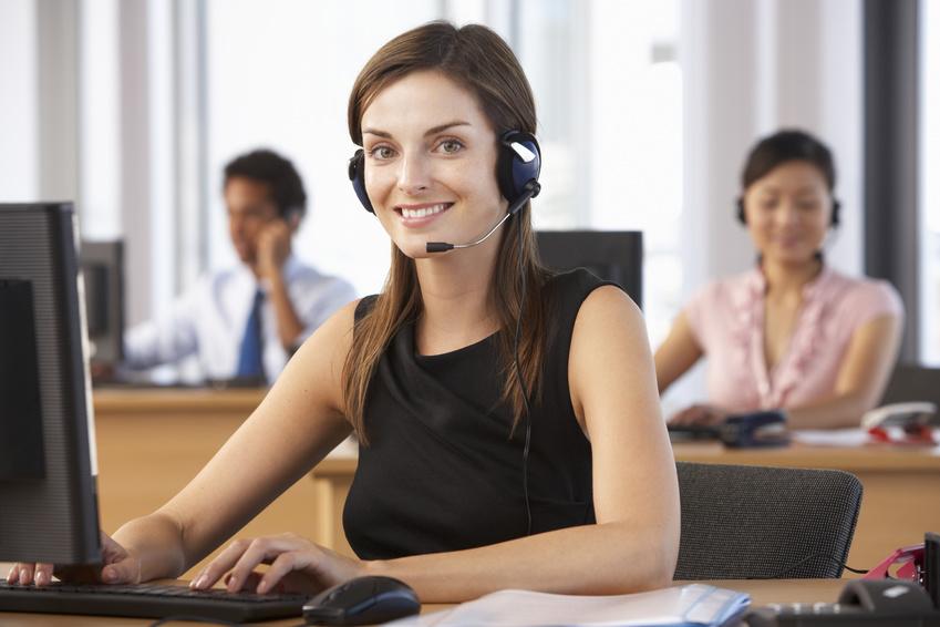 Beautiful female Customer service agent